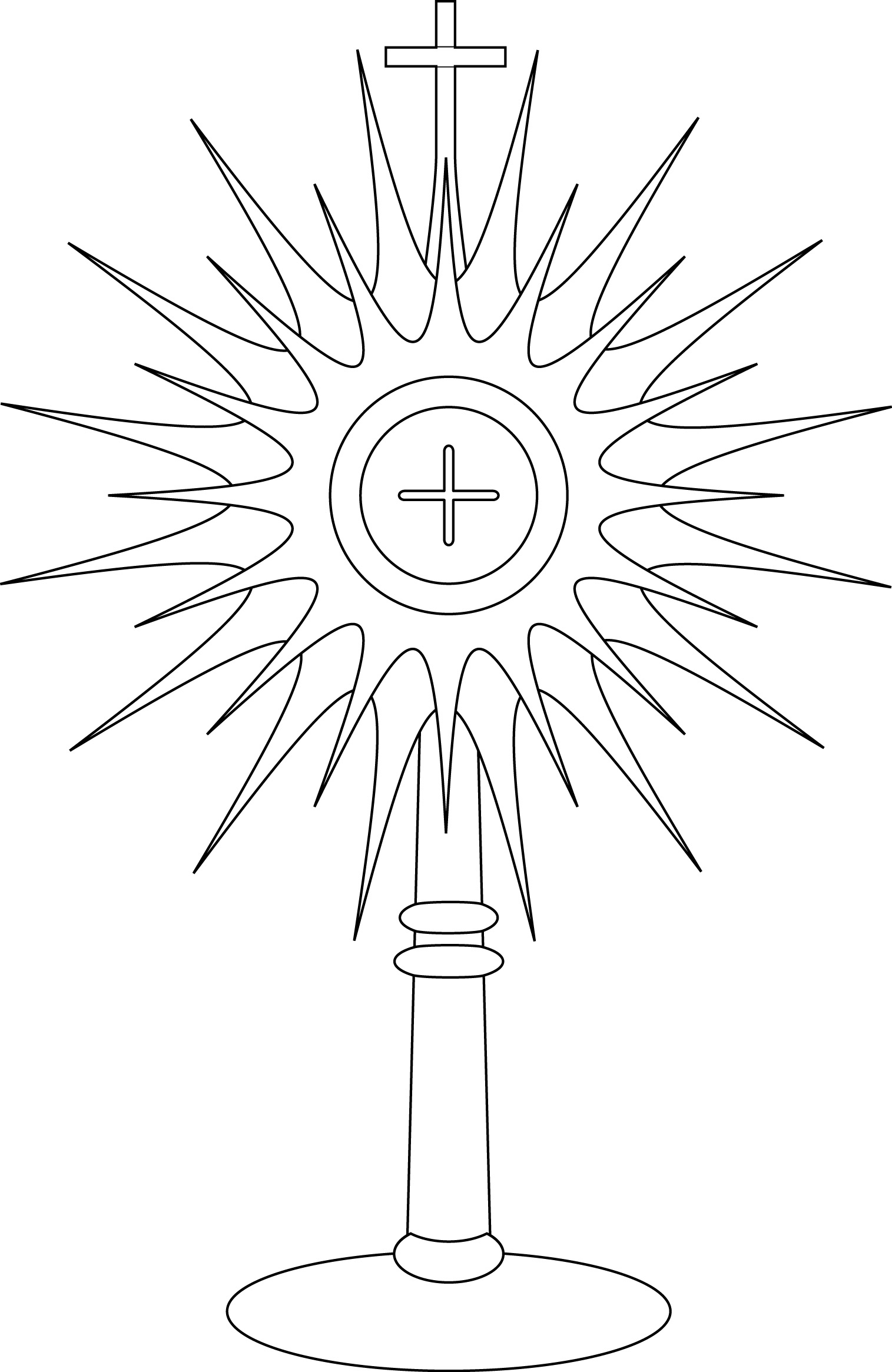 1515x2330 New Monstrance Coloring Page Google Search Free Coloring Pages