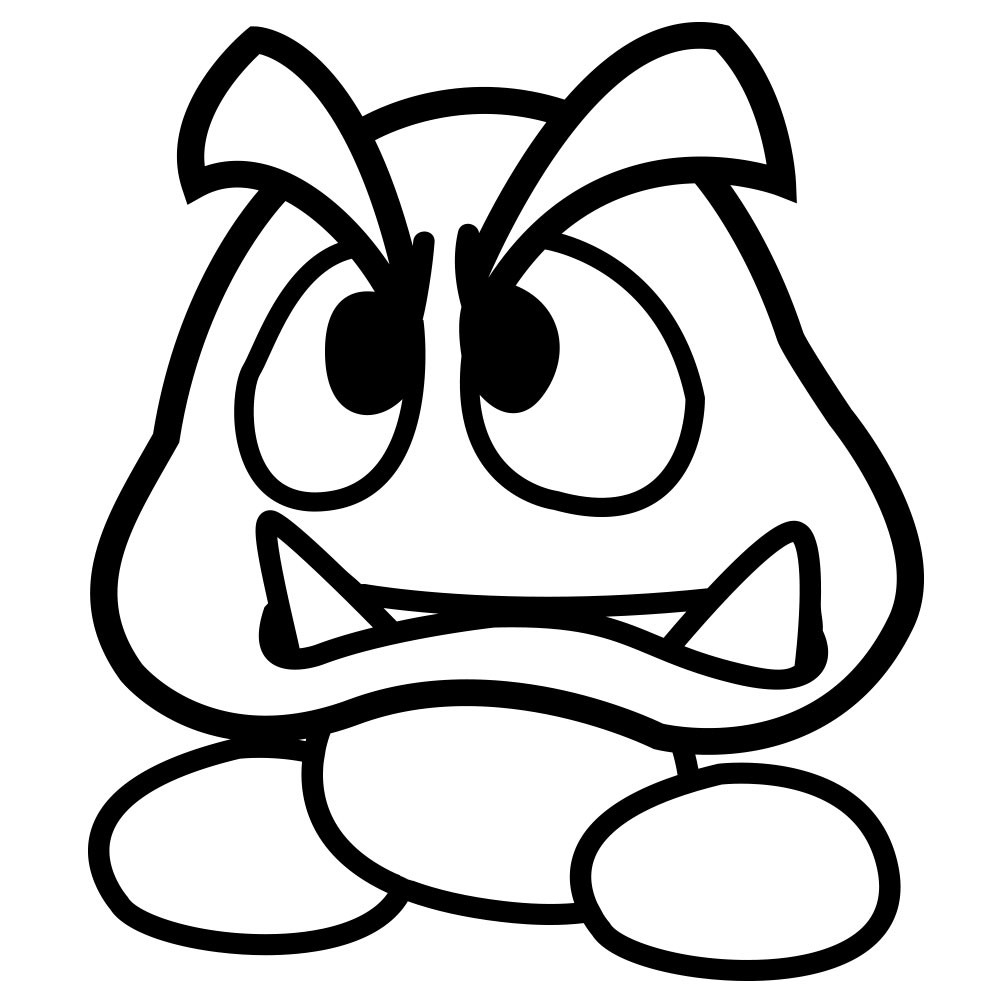 1000x1000 Fresh Goomba Coloring Pages Free Coloring Pages Download