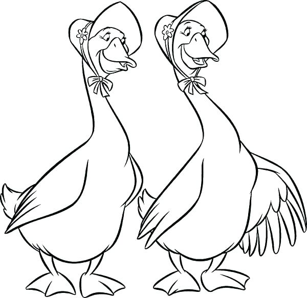 600x584 Goose Coloring Page The Coloring Pages Geese And In Goose Coloring