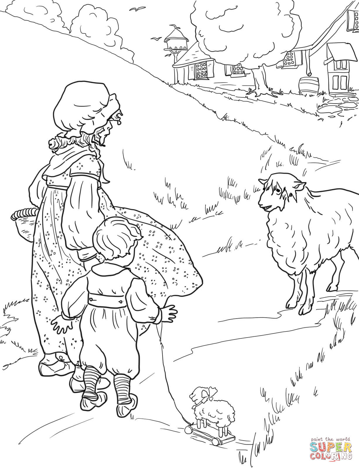 1226x1600 Sensational Mother Goose Coloring Pages Free Printable Baa Black