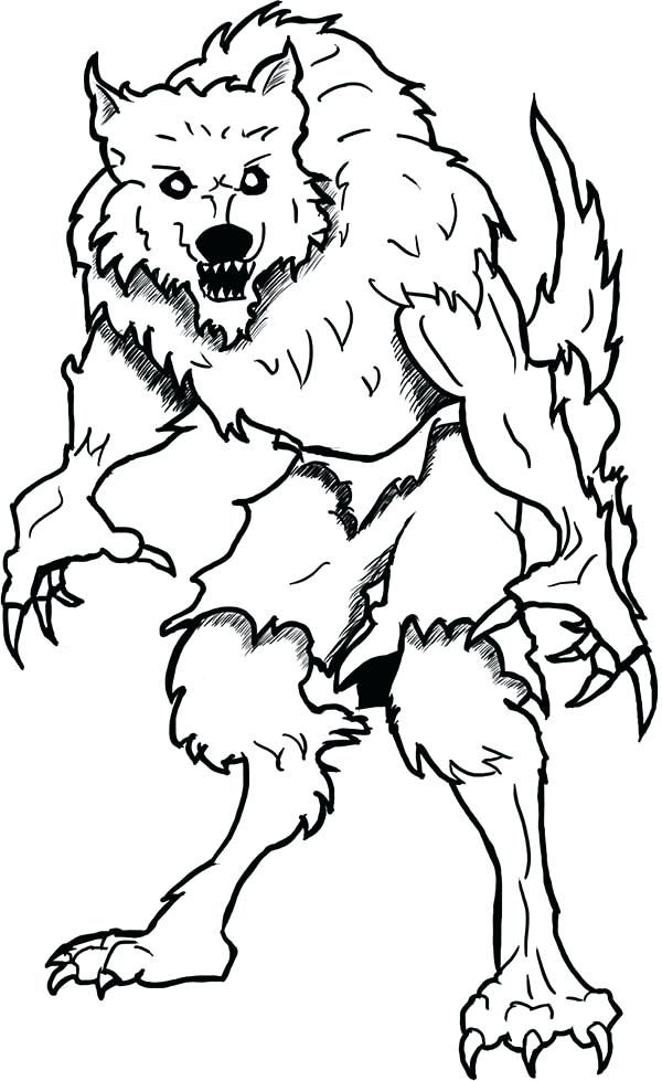 600x979 Goosebumps Coloring Pages Printable Coloring Page Werewolf