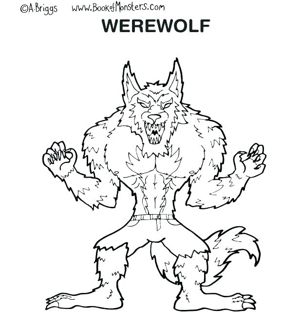 618x672 Goosebumps Coloring Pages Printable Werewolf Coloring Pages Best