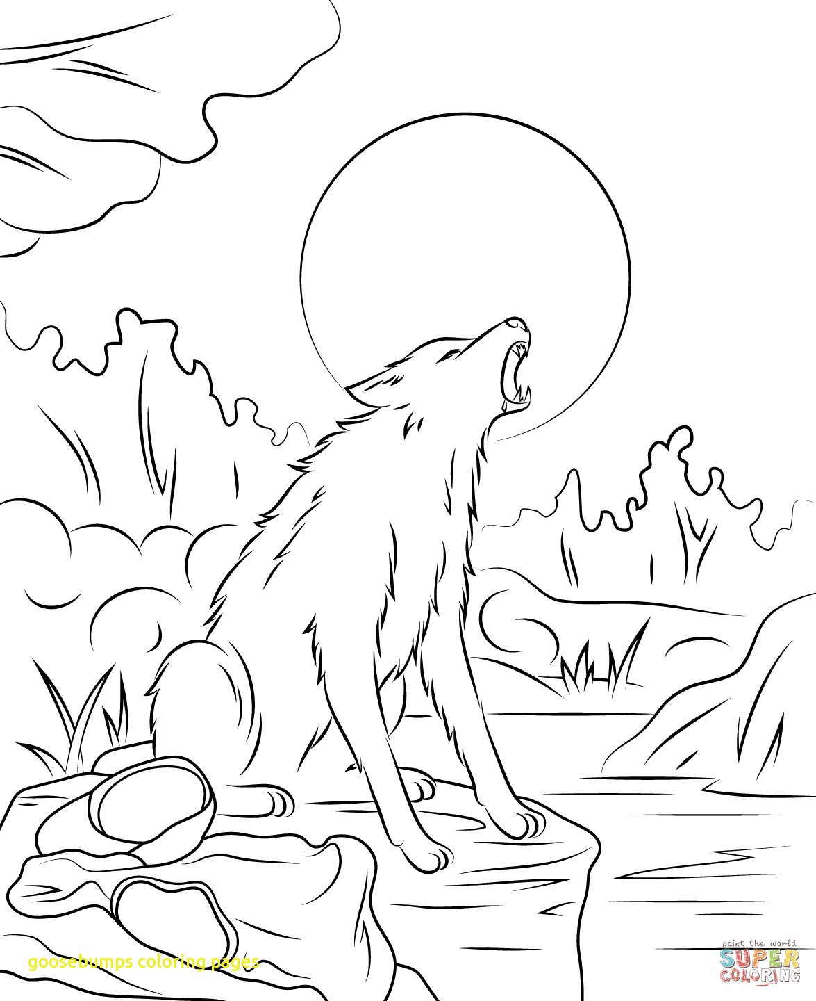 1175x1440 Goosebumps Coloring Pages With Goosebumps Coloring Pages