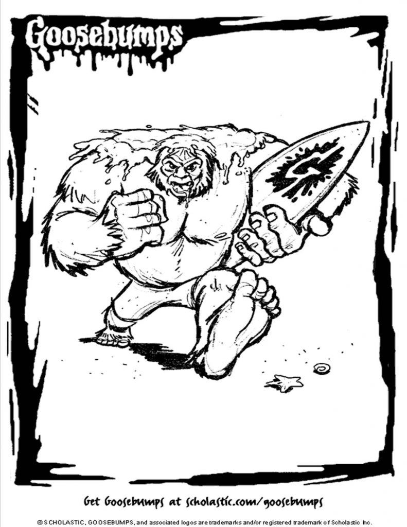 791x1024 Popular Goosebumps Coloring Pages