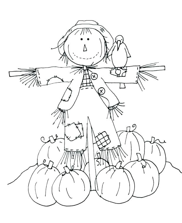 618x754 Scarecrow Coloring Pages To Print Scarecrow Coloring Page Photos