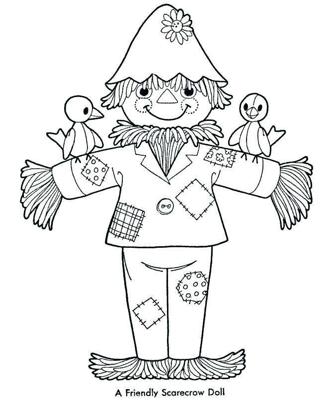 670x820 Free Scarecrow Coloring Pages Scarecrow Coloring Pages Free