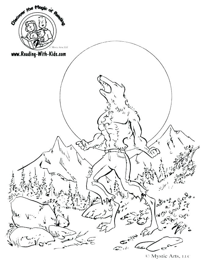 684x885 Goosebumps Coloring Pages Printable Werewolf Coloring Page