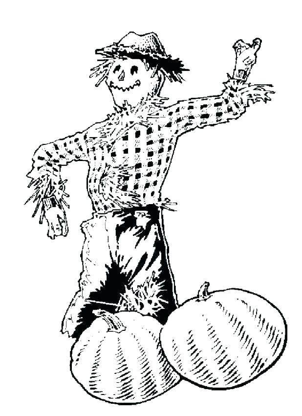 618x850 Scarecrow Coloring Pages Printable