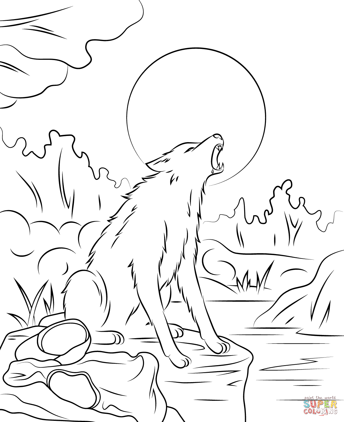 1175x1440 Goosebump The Werewolf Coloring Page Free Printable Pages