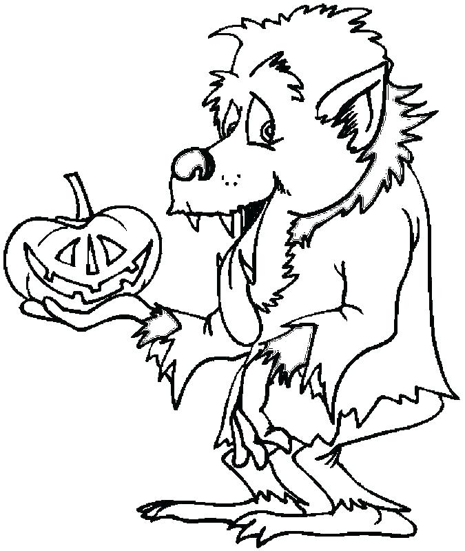 675x799 Goosebumps Coloring Pages Werewolf Coloring Page Goosebumps