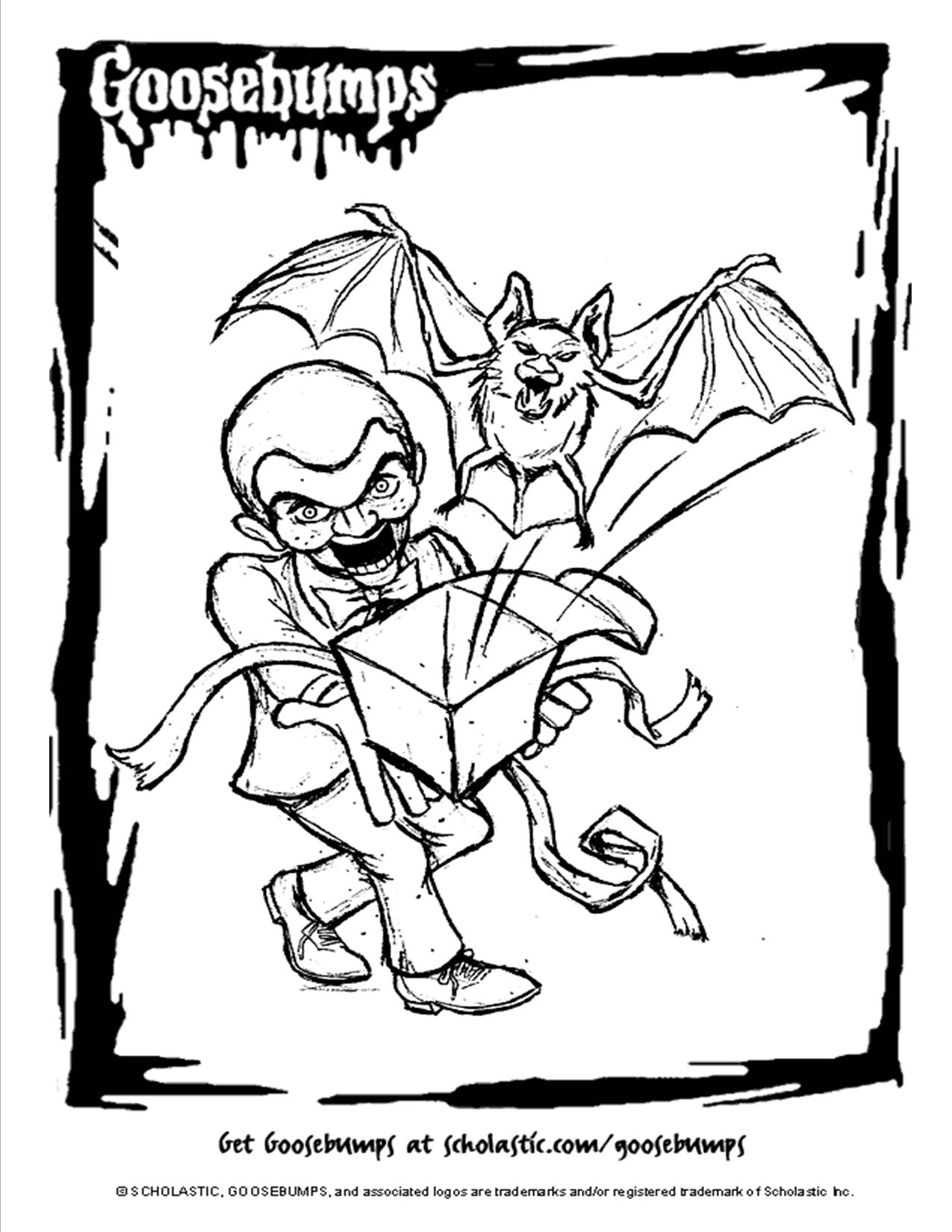 1275x1650 Scholastic Books Goosebumps Coloring Page Movie Theater