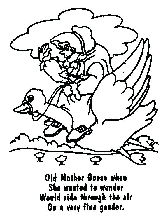 576x747 Goose Coloring Page Goose Coloring Page Mother Goose Coloring