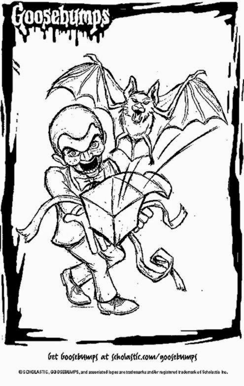 495x784 Goosebumps Slappy Colouring Pages Goosebumps