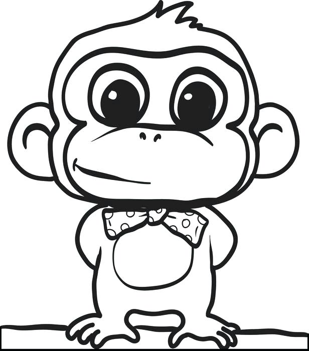 Gorilla Coloring Pages For Kids at GetDrawings   Free download