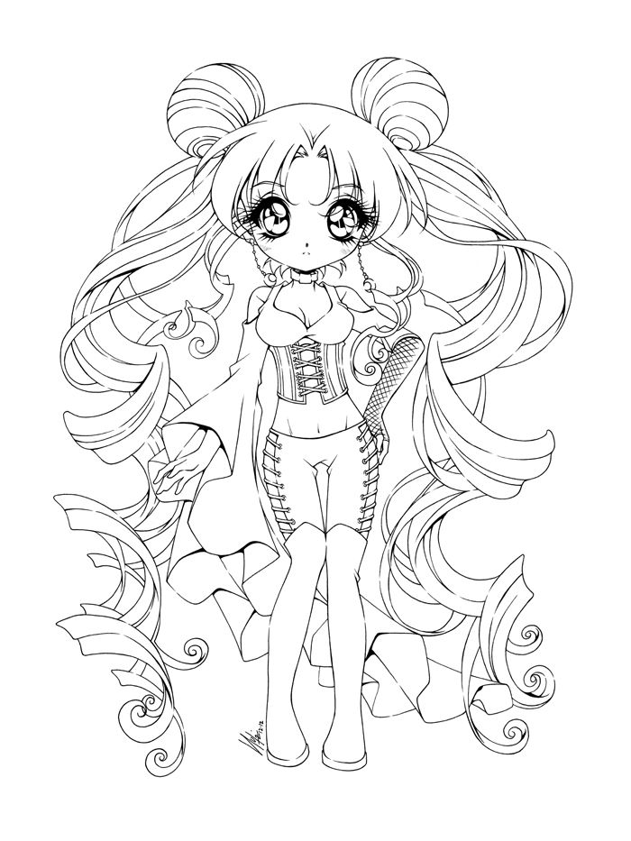 700x933 Goth Girl Coloring Pages