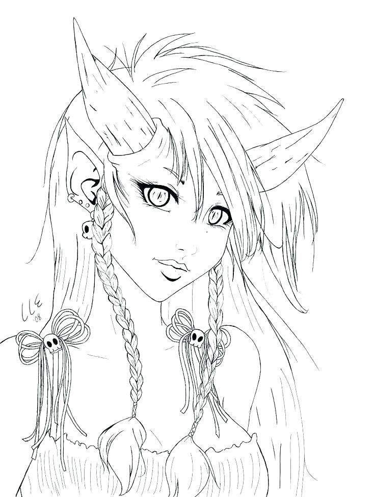 736x975 Gothic Coloring Pages