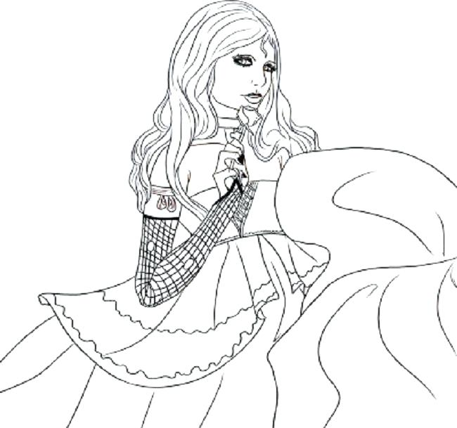 650x609 Goth Coloring Pages
