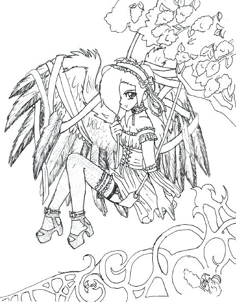 462x591 Coloring Page Coloring Pages For Kids Arts Culture Gothic Coloring
