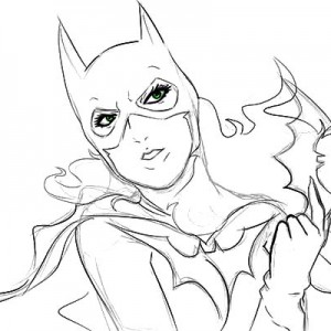 300x300 Gotham City Batgirl Coloring Pages Gotham City Batgirl Coloring