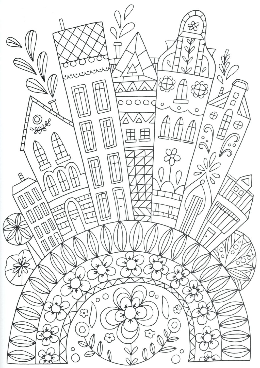 1024x1451 Gotham City Coloring Pages