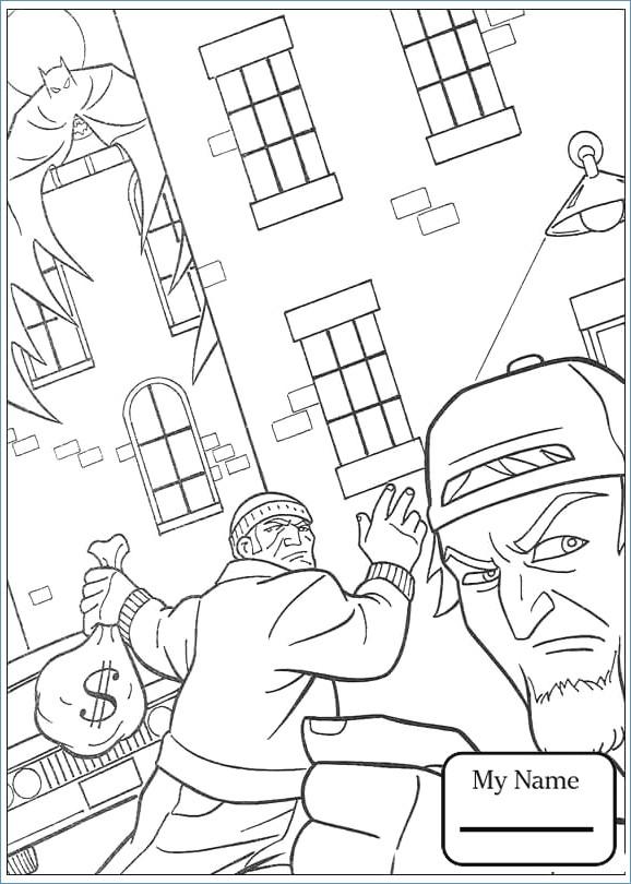 578x810 Batman Gotham City Coloring Pages