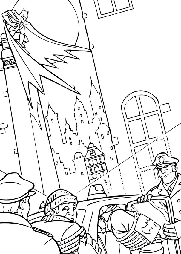 606x850 Batman In Gotham City Coloring Pages