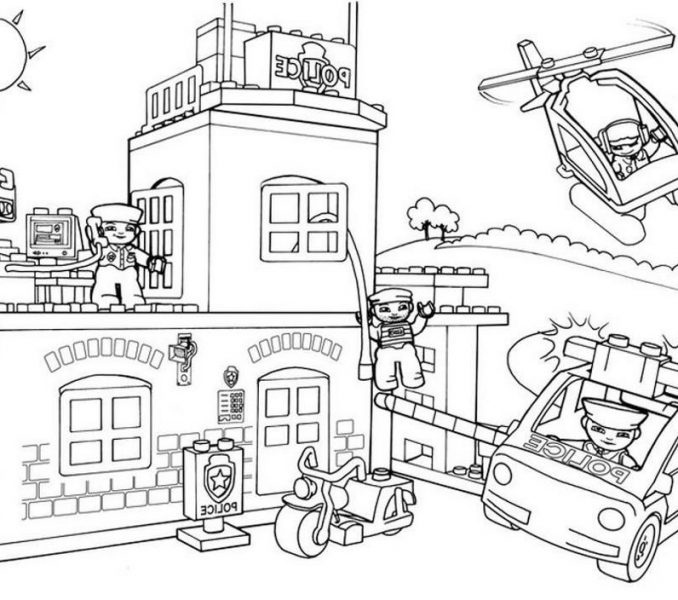 678x600 City Coloring Page Coloring Page