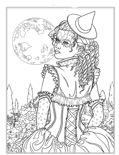 492x640 Epic Gothic Coloring Book