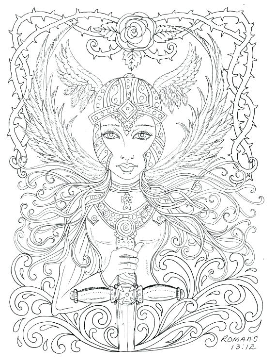570x750 Gothic Coloring Pages Coloring Book And Angel Coloring Pages