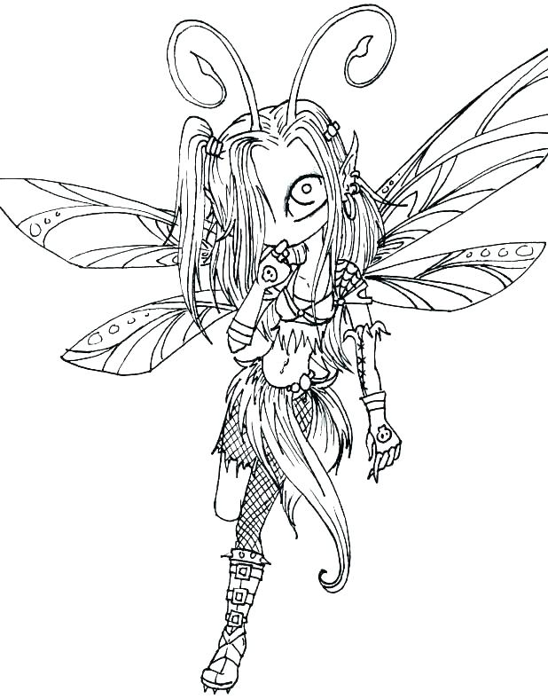 618x788 Fairy Coloring Pages For Adults