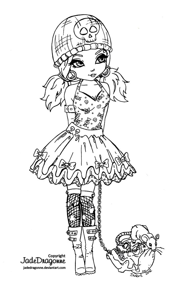 731x1110 Best Gothic Fairy Coloring Page Printable Adult Goth For Styles
