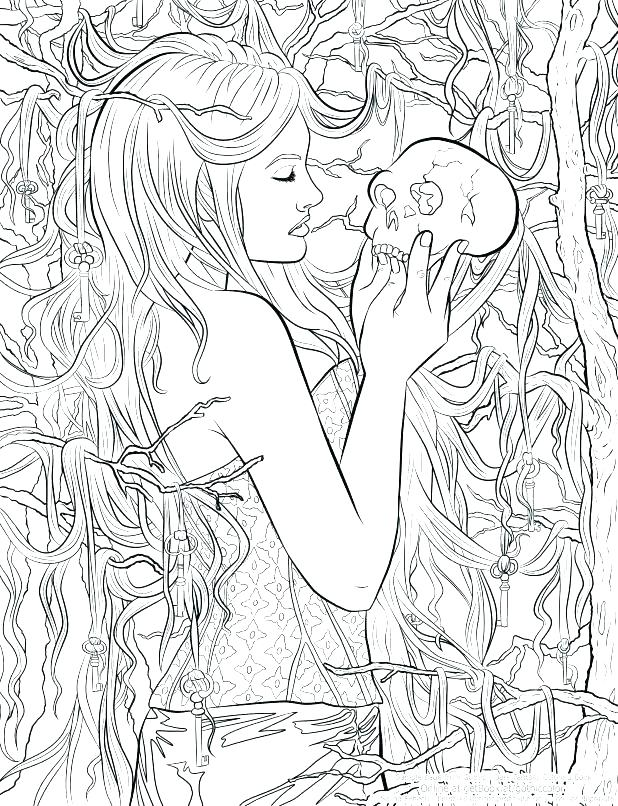 Gothic Anime Coloring Pages At Getdrawings Com Free For
