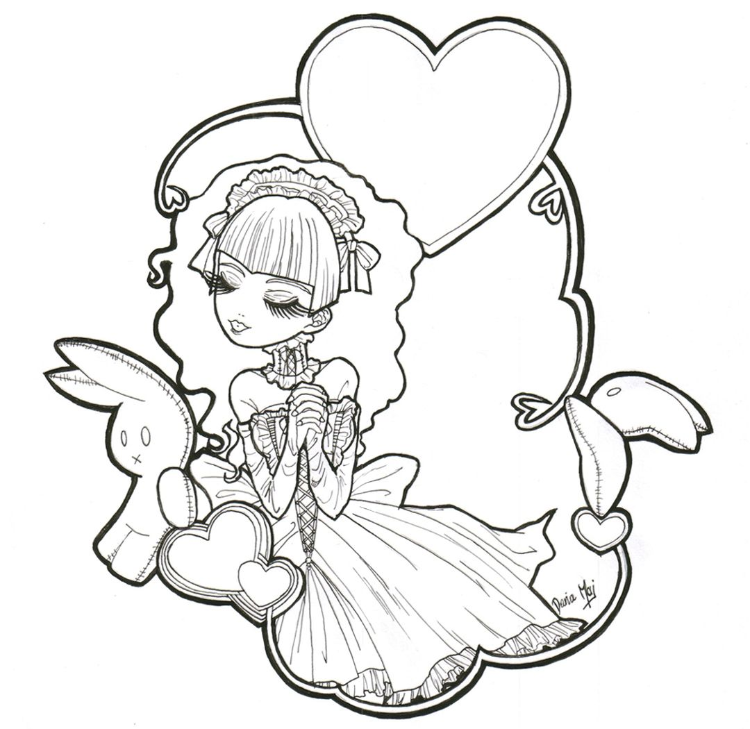Gothic Anime Coloring Pages at GetDrawings.com | Free for ...