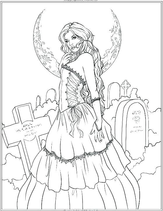 559x722 Gothic Coloring Pages Goth Coloring Pages Goth Anime Coloring