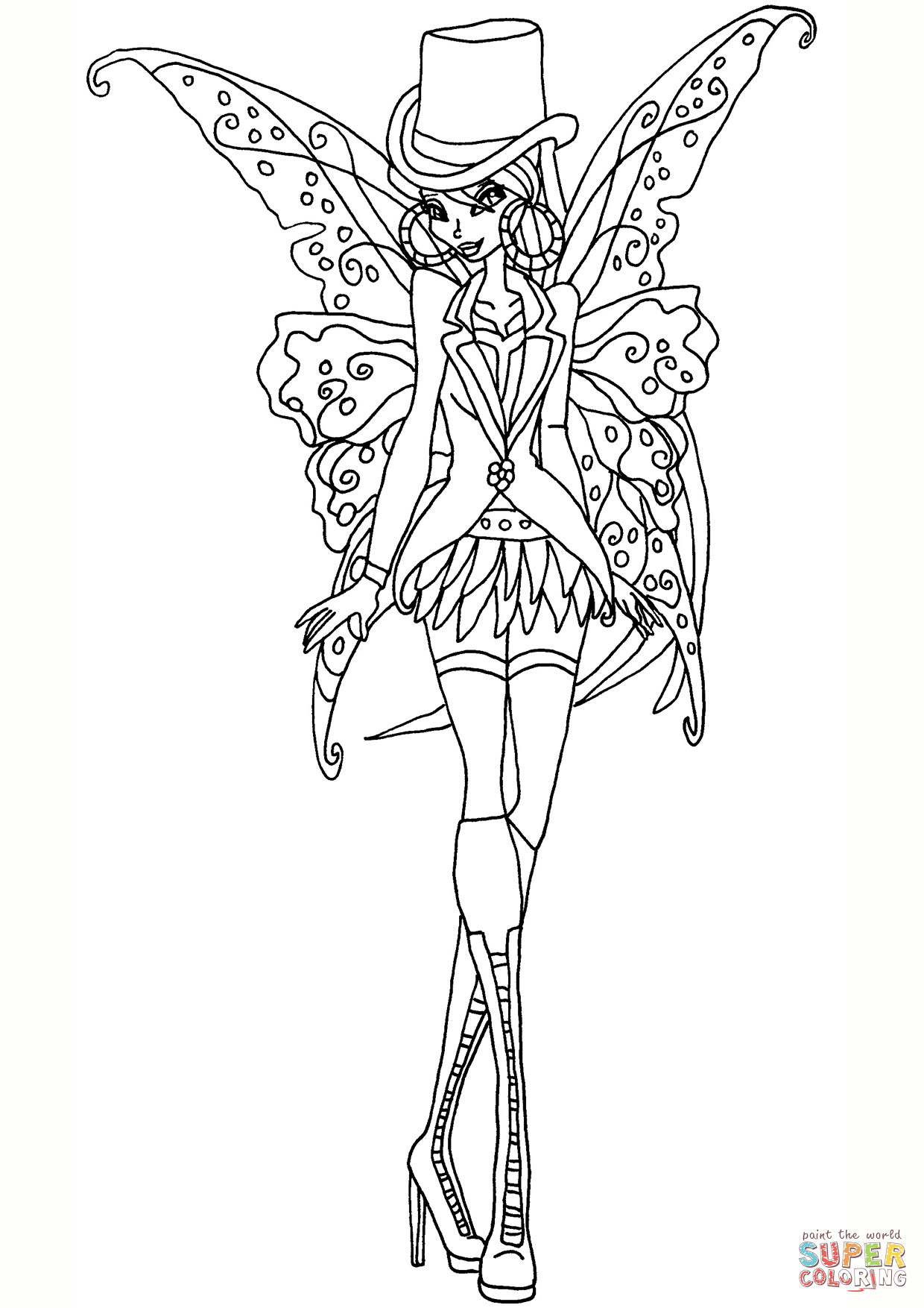 1240x1754 Gothic Flora Coloring Page Free Printable Pages