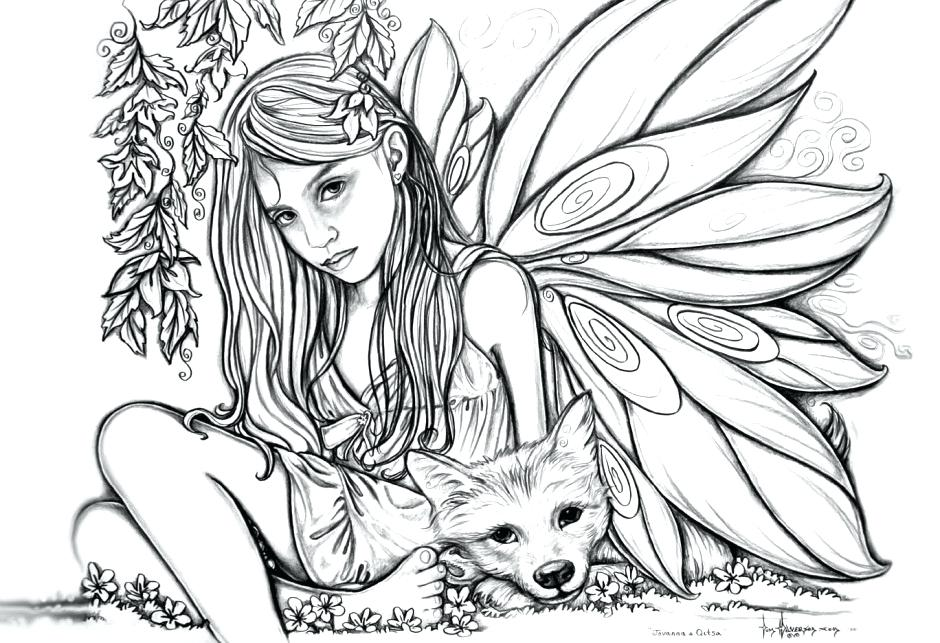 940x643 American Gothic Coloring Page Fairy Coloring Pages Fairies Free