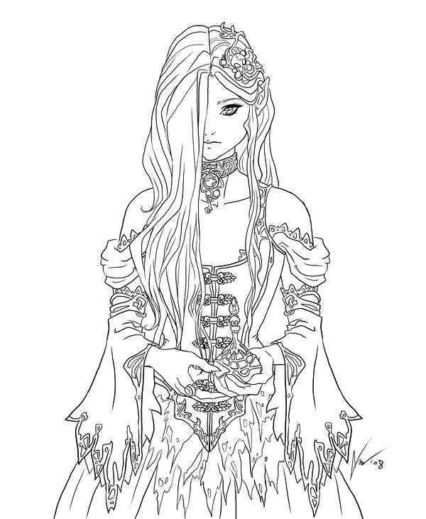 Gothic Coloring Pages For Adults at GetDrawings | Free ...
