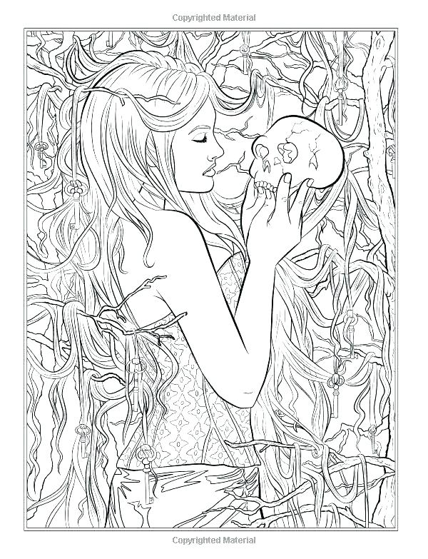 600x783 Gothic Coloring Pages Coloring Page View Larger Coloring Sheet
