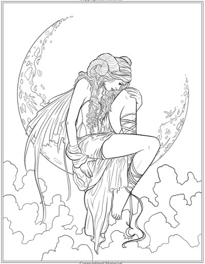 400x516 Gothic Coloring Pages For Adults Gothic Coloring Pages