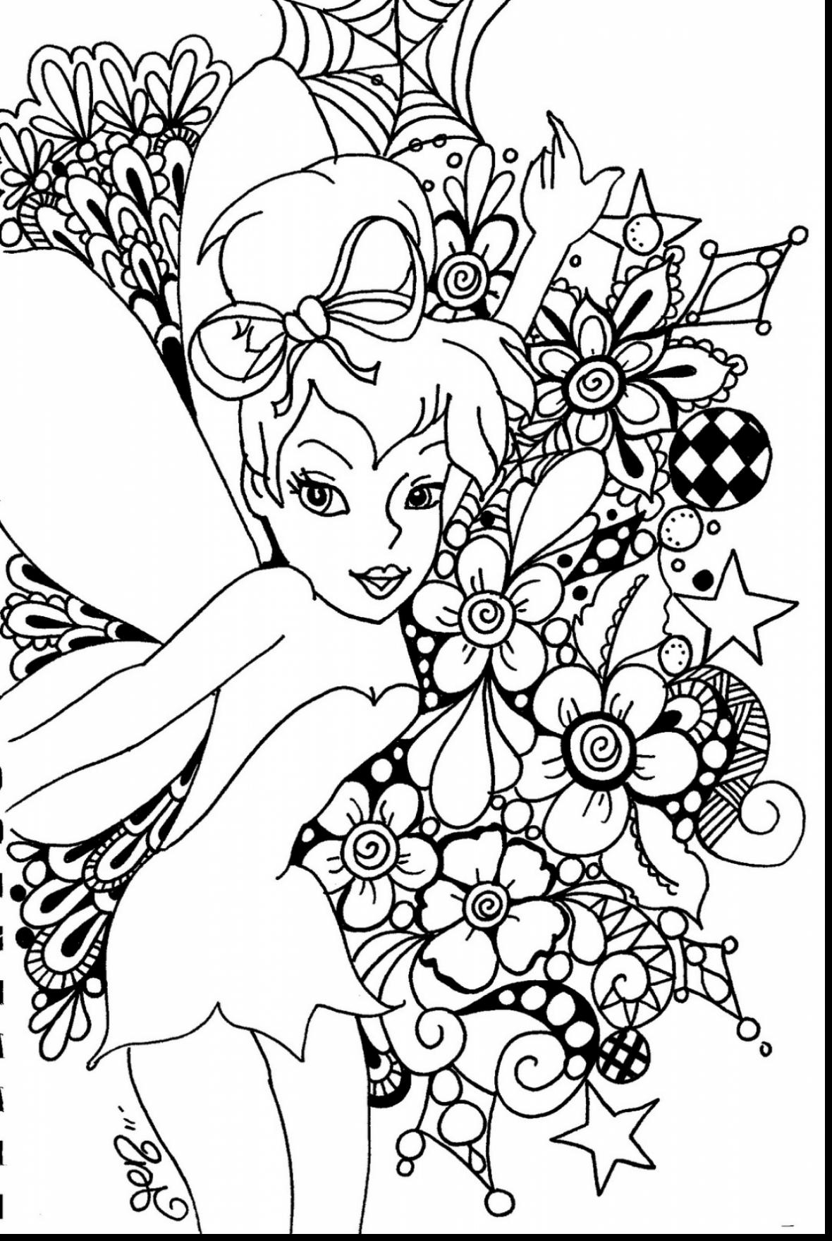1180x1760 Amazing Tinkerbell Coloring Pages With Fairy For Adults And Goth