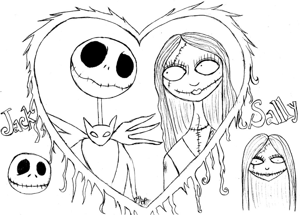 1024x736 Nightmare Before Christmas Coloring Pages Free Printable Nightmare