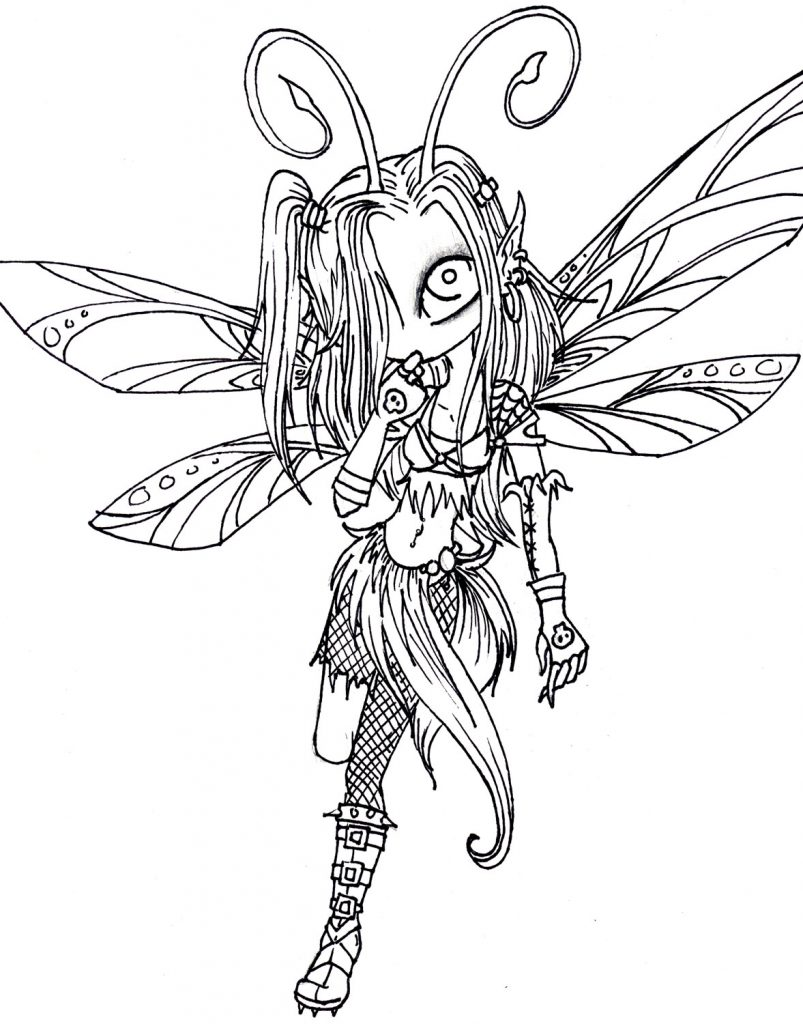 803x1024 Fairies Coloring Pages For Adults
