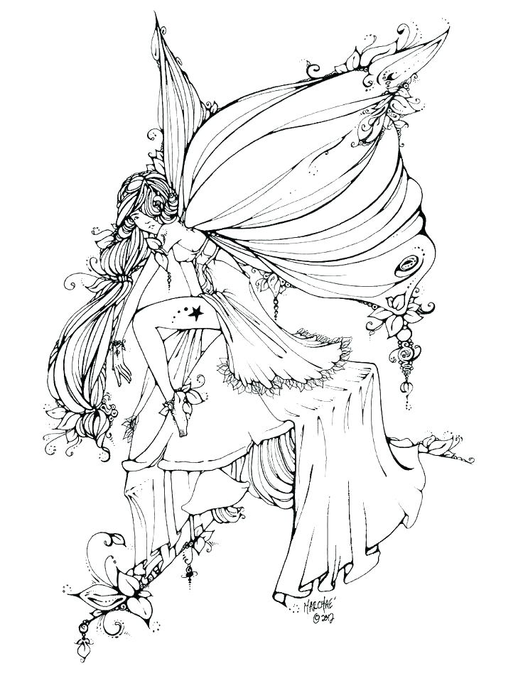 736x955 Fairies Coloring Pages Girls Coloring Pages Barbie Fairy Gothic