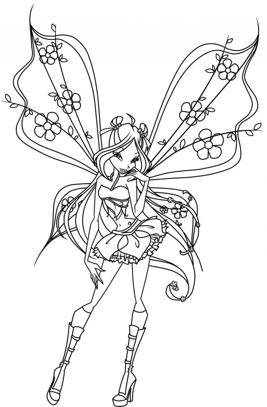 1024x1560 Fairy Coloring Pages Pictures Highest Clarity Hard For Adults