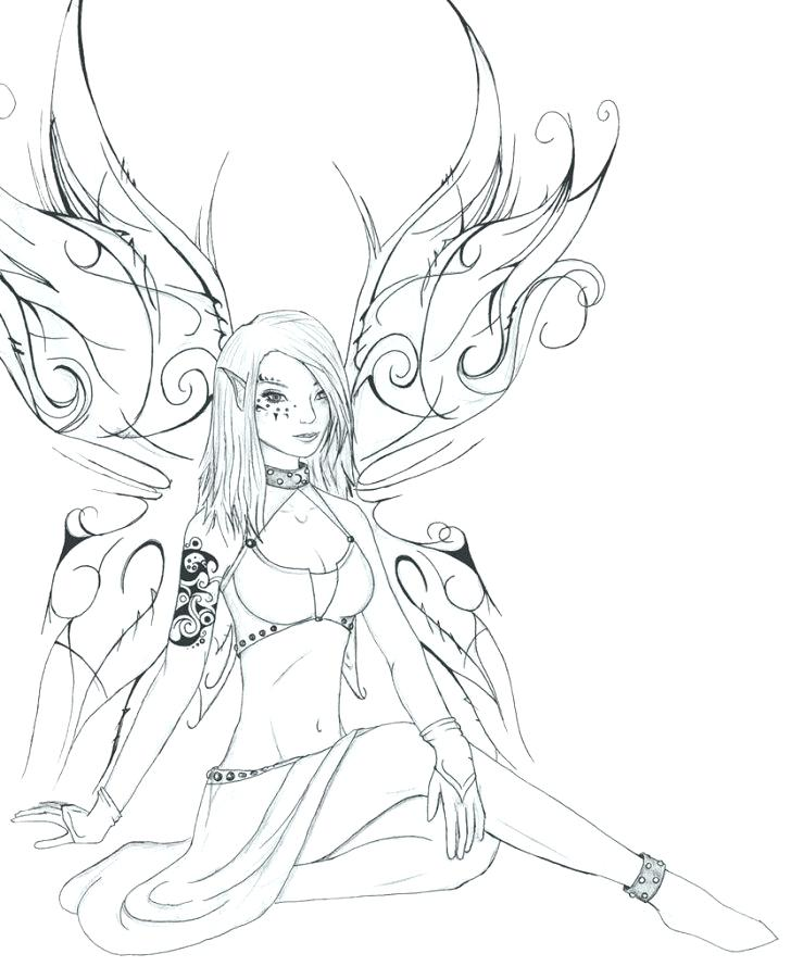 728x901 Goth Coloring Pages Coloring Pages With Wallpapers Full Goth Fairy