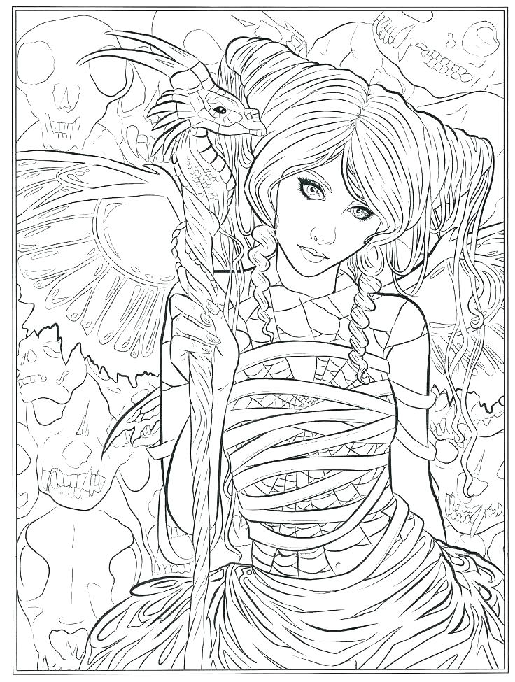 736x975 Goth Coloring Pages Goth Fairy Coloring Pages For Adults Ideas