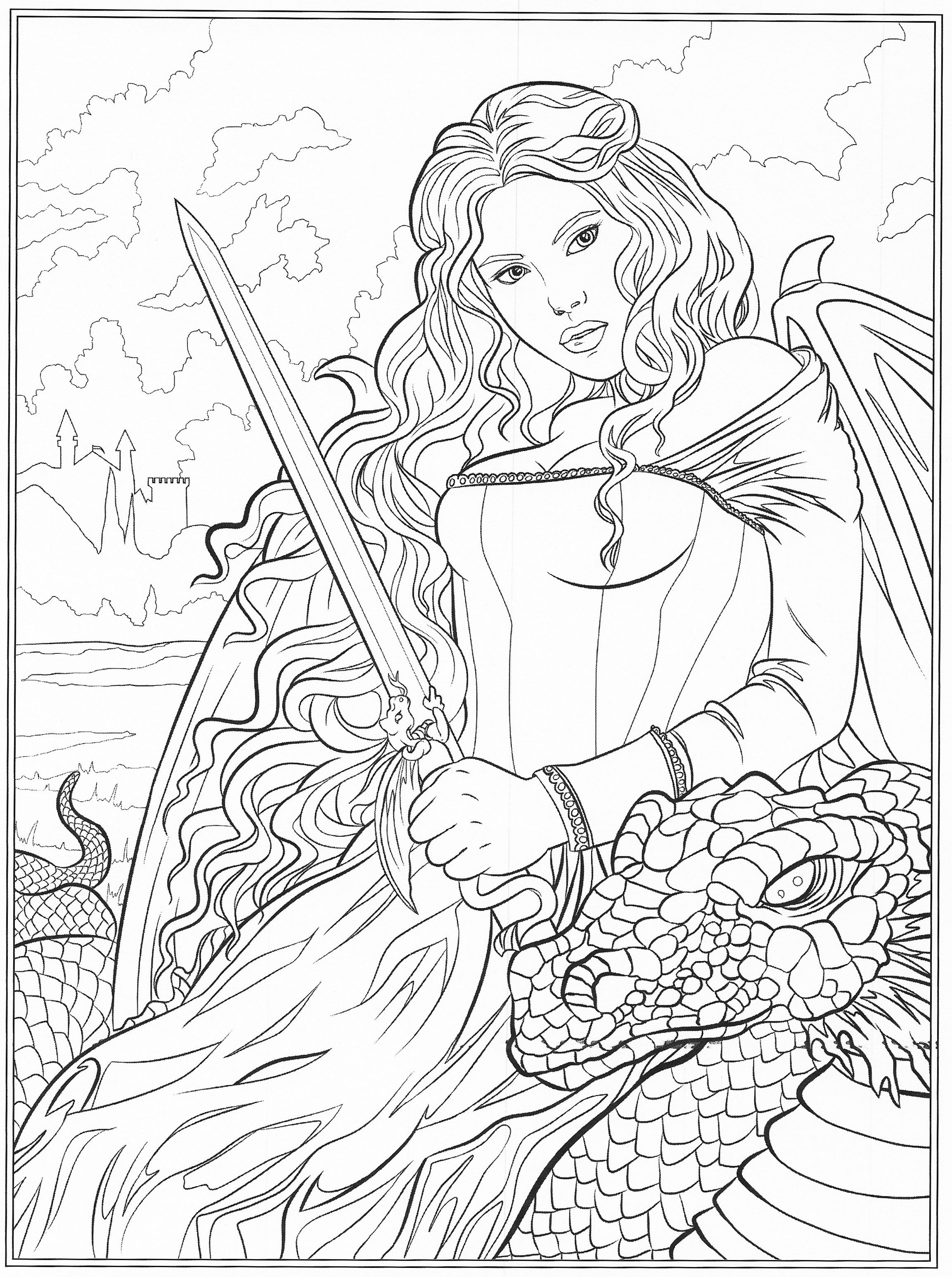 2306x3092 New Gothic Fairy Coloring Pages Free Coloring Pages Download