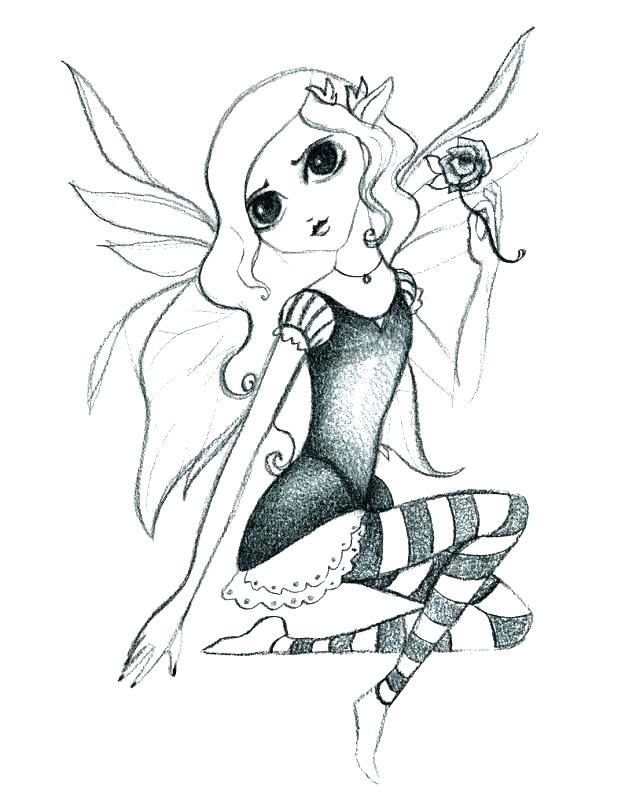 618x800 Printable Gothic Fairy Coloring Pages Coloring Pages Surprising