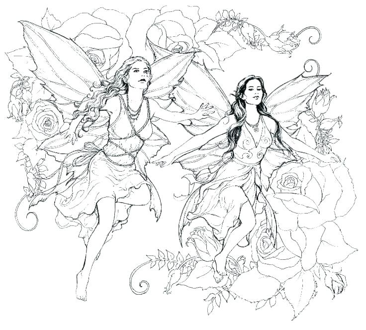 736x663 Coloring Pages Of Gothic Fairies