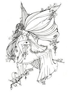 236x306 Goth Fairy Coloring Pages For Adults
